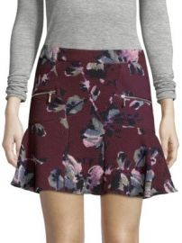 Cosette - Floral-Print Mini Skirt at Saks Off 5th