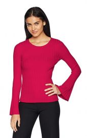 Cossak Ribbed Bell-Sleeve Sweater by Bailey 44 at Amazon