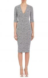 Cotton-Blend Belted Sheath Dress by Victoria Beckham at Barneys