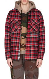 Cotton-Blend Flannel Shirt at Barneys