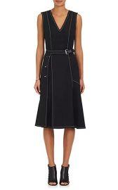 Cotton-Blend Ponte A-Line Belted Dress by Derek Lam at Barneys