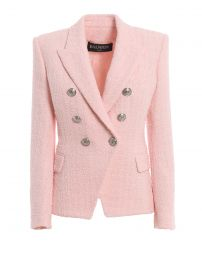 Cotton Blend Tweed Blazer by Balmain at Farfetch