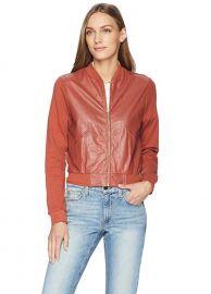 Cotton Bomber Jacket Leather Yoke Jacket by Majestic Fliatures at Amazon