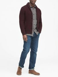 Cotton Cable-Knit Cardigan Sweater at Banana Republic