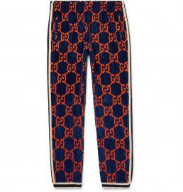 Cotton Devoré-Velvet Sweatpants at Mr Porter