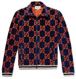 Cotton Devoré-Velvet Track Jacket at Mr Porter
