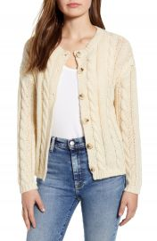 Cotton Emporium Cable Cardigan   Nordstrom at Nordstrom