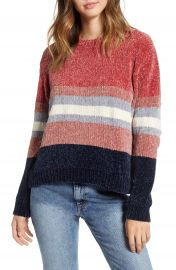 Cotton Emporium Stripe Chenille Sweater   Nordstrom at Nordstrom
