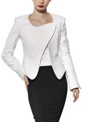 Cotton Faille Asymmetric Jacket by Mugler at Luisaviaroma