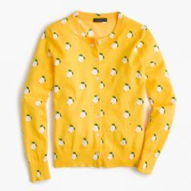 Cotton Jackie cardigan sweater in lemon print at J. Crew