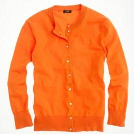 Cotton Jackie cardigan sweater in tangerine at J. Crew