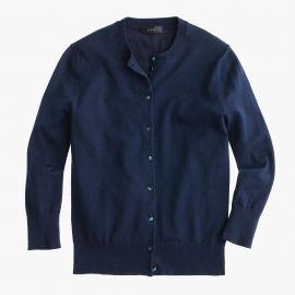 Cotton Jackie cardigan sweater in vintage indigo at J. Crew