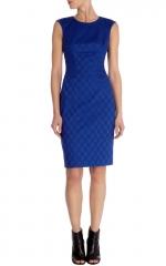 Cotton Jacquard Shift Dress at Karen Millen