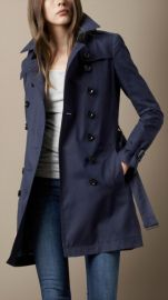 Cotton Poplin Trench at Burberry