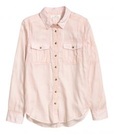 Cotton Shirt in Pink at H&M