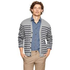 Cotton Striped Cardigan at Gap