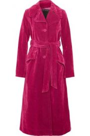 Cotton-blend velvet coat by Marc Jacobs at The Outnet
