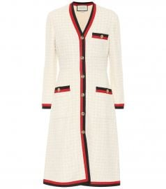 Cotton-blend tweed coat at Mytheresa