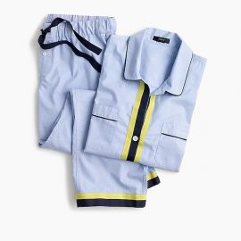 Cotton pajama set with contrast trim at J. Crew