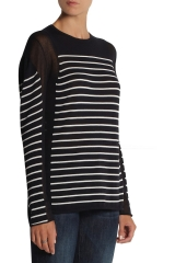 Cotton striped pullover by T by Alexander Wang at The Outnet
