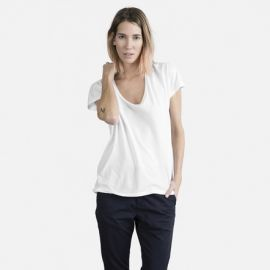 Cotton uneck tee at Everlane