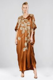 Couture Beaded Peacock Caftan by Josie Natori at Natori