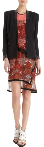 Cove leather trim jacket by Helmut Lang at Barneys
