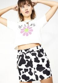Cow Print Mini Skirt at Dolls Kill