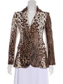 Cowhide Animal-Print Blazer by BY. Bonnie Young worn by Deborah Roberts on The View at The Real Real