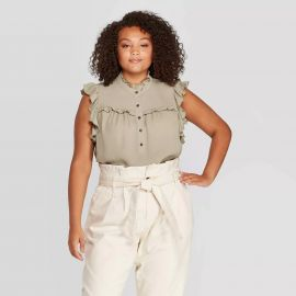 Cowl Neck Ruffle Detailed Blouse at Target