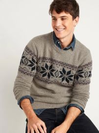 Cozy Fair Isle Crew-Neck Sweater by Old Navy at Old Navy