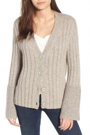 Cozy Ribbed Tie Cardigan by Leith at Nordstrom Rack