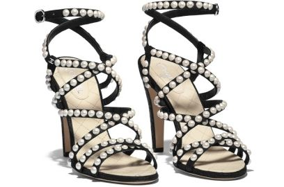 Crackled lambskin Sandals by Chanel at Chanel