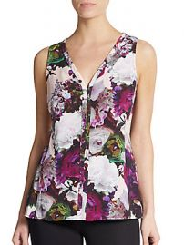 Crazy for you floral top at Saks Off 5th