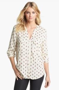 Cream printed utility shirt at Nordstrom