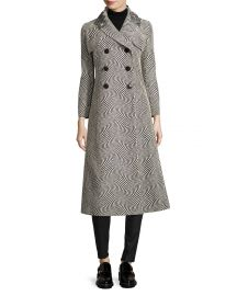Creatures Of The Wind Optic Jacquard Double-Breasted Dress Coat at Neiman Marcus