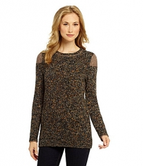 Cremieux Kari Marled Knit Sweater at Dillards