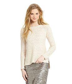 Cremiuex Sequin Sweater at Dillards