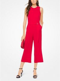 Crepe Belted Jumpsuit at Michael Kors
