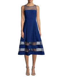 Crepe Mesh Dress by Aidan Aidan Mattox at Lord & Taylor