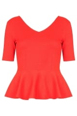 Crepe Peplum Top at Topshop