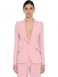 Crepe Single Breasted Blazer at Luisaviaroma