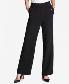 Crepe Wide-Leg Pants by DKNY at Macys