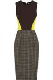 Crepe and wool-tweed dress at The Outnet