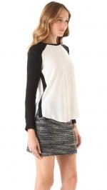 Crepe baseball blouse by Rebecca Taylor at Shopbop at Shopbop