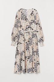 Creped wrap dress at H&M