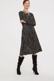 Creped wrap front dress at H&M