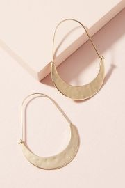 Crescent Hoops by Anthropologie at Anthropologie