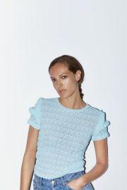 Crew Neck Ruffle Sweater by Zara at Zara