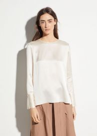 Crew Neck Silk Blouse at Vince